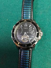 12b06b4a7fcd Reloj Para Caballero Timex Automatico Pulso Piel Original