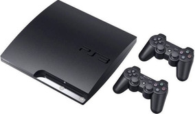 Playstation 3 Ps3 Slim Play3 + Gta 5 + 39 Jogos +2 Controles