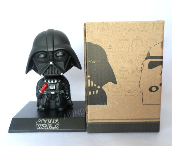 Muñeco Cabezon De Darth Vader Star Wars Movil 12cm
