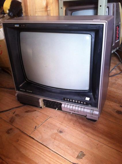 Tv Televisão Philco Hitachi Colorida Antiga Funcionando Fret