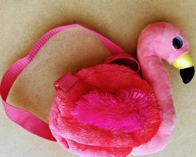 Bolsa Beanie Boos Ty Flamingo Gilda Rosa Pelúcia Dtc Usada