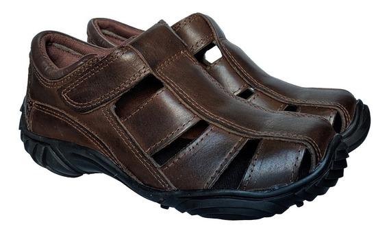 Chinelos Sandálias Masculino Em Couro Fort Shoes Sandália