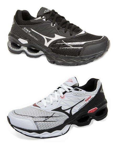 Tenis Mizuno Wave Creation 20 Academia Promoçao Kit 2 Pares