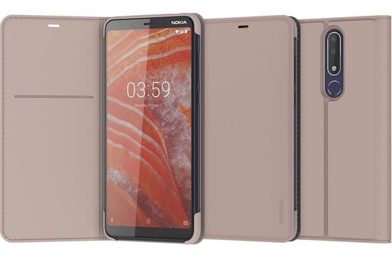Nokia 3.1 Plus Flip Cover Cream