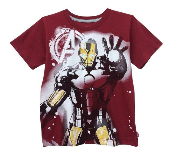 Playera Ultimate Iron Man Para Niño Oficial De Marvel
