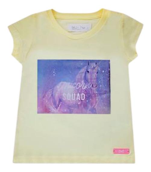 Remera Nena Unicorn Holograma Lenticular Gimos Regalosdemama