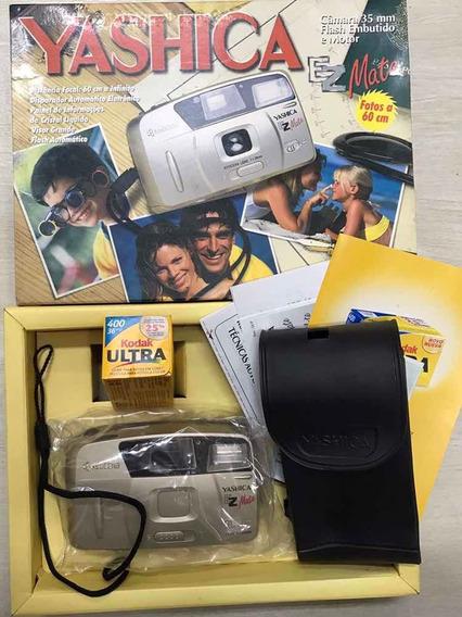 Câmera Máquina Fotográfica Analógica Yashica Ez Mate - Nova