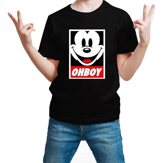 Playera Mickey Mouse Oh Boy Niño 1 Pieza Con Envio