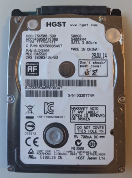 Hd Notebook Hgst 500gb