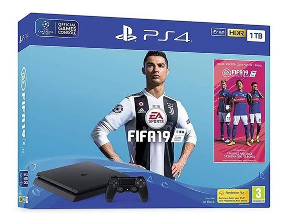 Console Sony Playstation 4 Slim 1tb Modelo 2215b Com Fifa 19