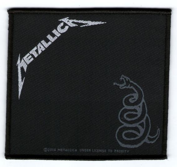 Patch Microbordado - Metallica - Black Album (2014) Oficial