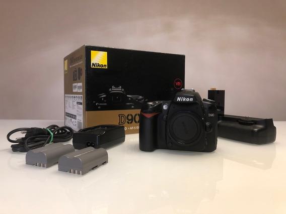 Kit Maquina Fotográfica Nikon D90 Dslr - Corpo + Acessórios