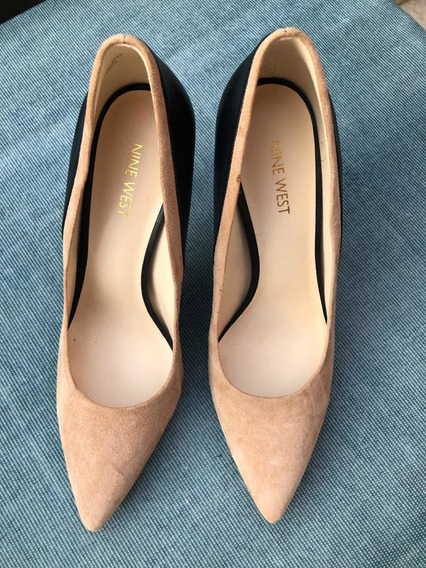 Zapatos Nine West Beige Y Negro Talle 9y1/2 Usa Talle 40