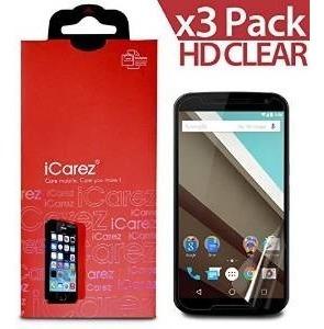 Icarezâ® Para Motorola Google Nexus 6 [hd Borrar] [único Bis
