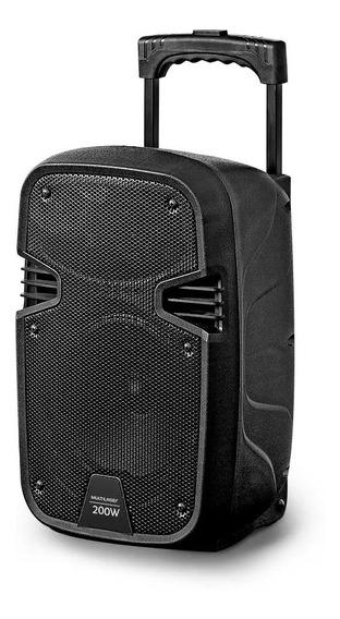 Caixa Som Amplificadora 200w Rms Bt Usb 8 Mic Karaokê Sp329