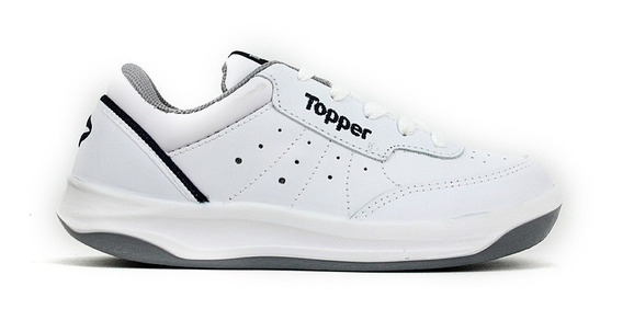 Zapatillas Topper Cuero Natural X Forcer Kids Niños