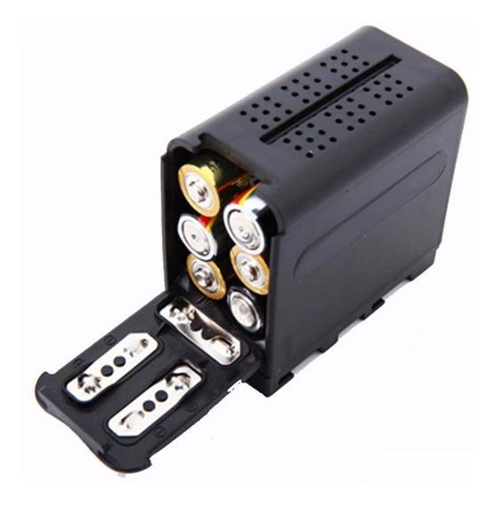 Adaptador Pilha Sony Np-f970 F550 - Iluminador Led 160 - P67