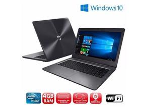 Notebook Positivo N40i 4gb Hd500 Wifi Bluetooth Win10