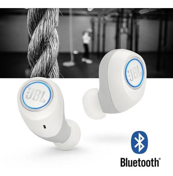 Fone De Ouvido Sem Fio Jbl Free X Branco Bt Bluetooth