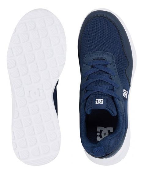 Tenis Dc Shoes Para Niños Hartferd Marino Blanco