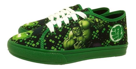 Tênis Infantil Criança Hulk Confortável.