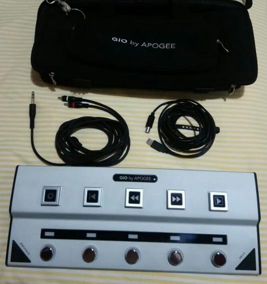 Pedaleira Apogee Gio Pedal Interface De Guitarra Para Mac
