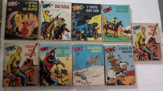 Tex Editora Vecchi 2a Edições 1980//81/82/83 Com 9 Revistas