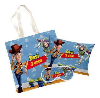 10 Kits Festa Do Pijama Sacola, Mascara E Almofada Toy Story