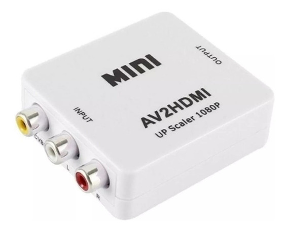 Conversor Adaptador Video Rca Av2 A Hdmi 720p 1080p Ditron
