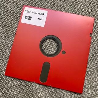 Floppy Diskette Disco 5.25 5 1/4 Color Rojo Ds Dd 2s 2d Red