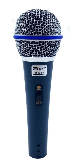 Microfone Dinâmico Com Fio Pra Palestra Karaokê D-m58 Igreja