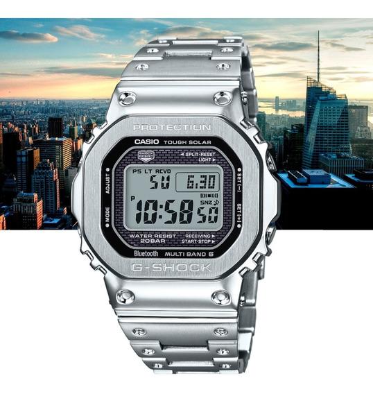 Relógio Casio G-shock Digital Bt Gmw-b5000d-1dr Prata