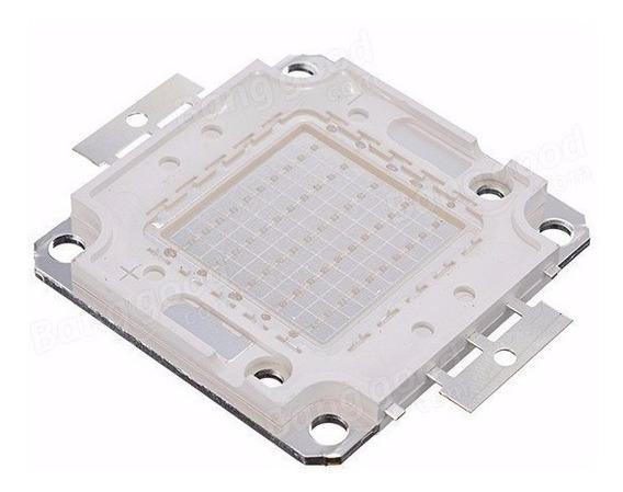 Chip Led Azul 50w Reposição De Refletor 50w 100w 150w 200w