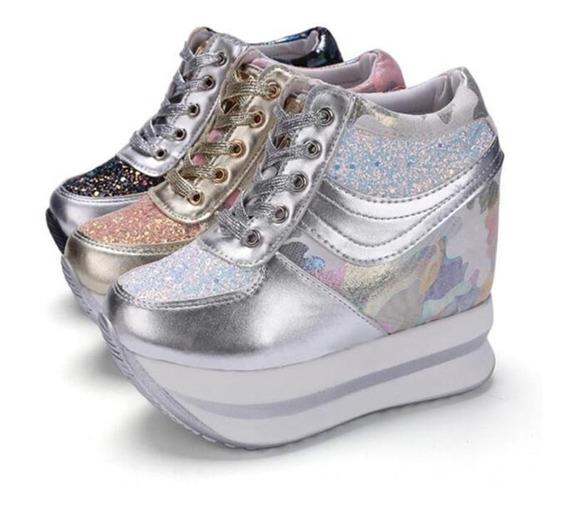 Sneaker Feminino Sxqinr 90167 Importado Frete Grátis