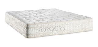 Colchon Queen Topacio Marfil Top 160x200x25 Alta Densidad