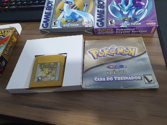 Jogo Game Boy Color Pokemon Gold Com Manual E Caixa Leia