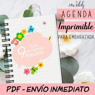 Kit Imprimible Agenda De Embarazo Diario Embarazada Control