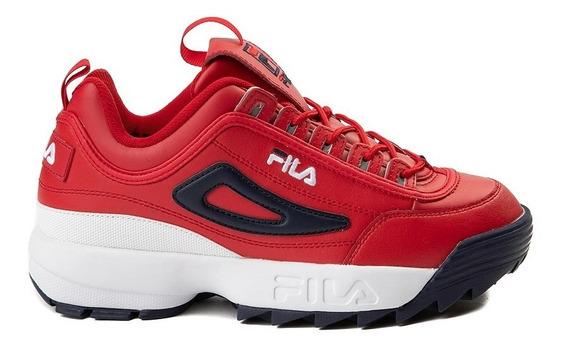Tenis Fila Disruptor 2 Premium Red Atletico Original Hombre