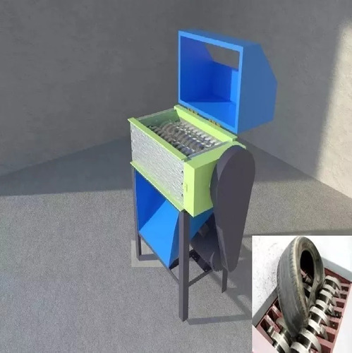 Imagen 1 de 1 de Planos Trituradora Moledora Cauchos Neumaticos Huesos Vidrio