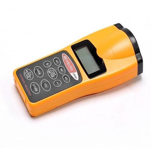 Imagen 1 de 4 de Medidor De Distancia Ultrasinico Con Puntero Laser Lcd 2