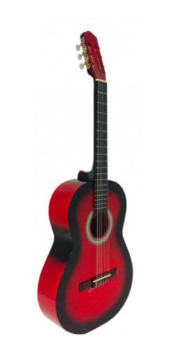 Imagen 1 de 2 de Guitarra clásica Guitarras Valdez 1A roja y negra