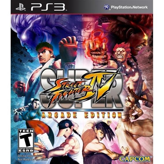 Jogo Super Street Fighter Iv - Arcada Edition (novo) Ps3