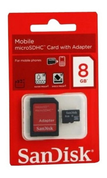 Kit Com 10 Cartão De Memória Micro Sd 8gb Sandisk Original