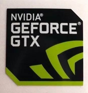 Adesivo Original Nvidia Geforce Gtx