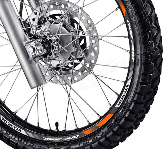 Friso Adesivo Refletivo D3 Roda Moto Honda Xre 300 Xre300