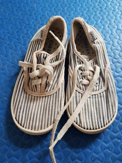 Zapatillas Cheeky De Lona Rayadas