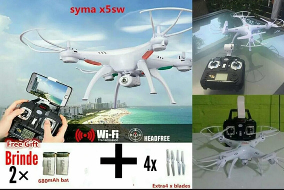 Drone Syma X5sw Com Câmera Preto Ou Branco Para Iniciantes