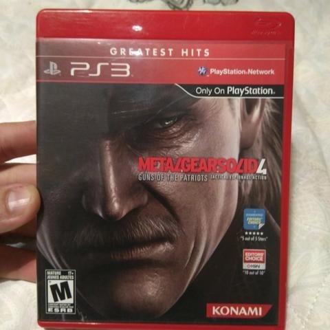 Jogo Playstation 3 Ps3 Metal Gear Solid 4 Usado