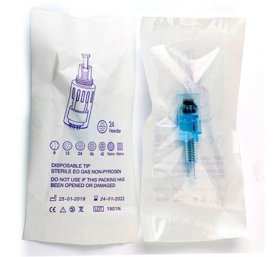 10 Cartuchos Repuestos Para Dr Pen X5 12, 36 Y Nano Agujas