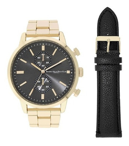 Relógio Beverly Hills Polo Club 53766 Dourado